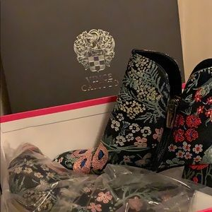 Vince Camuto floral booties